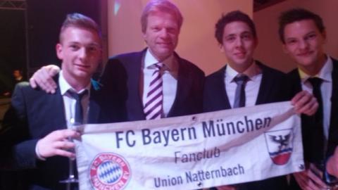 Fanclubmitglieder mit Oliver Kahn