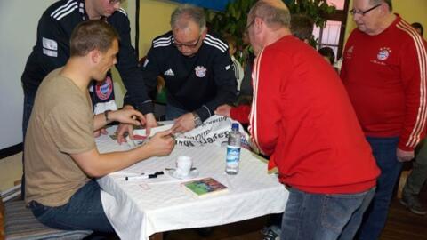 Manuel Neuer beim Fanclub Antiesental