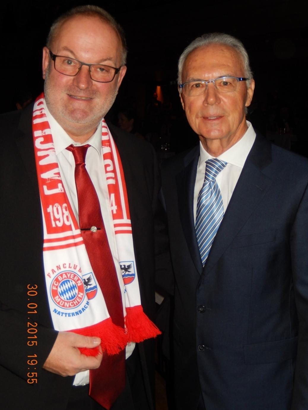 Gerald Stutz mit Franz Beckenbauer