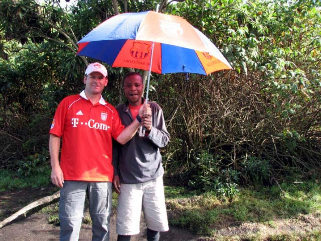 Fanclubmitglied Manfred Huemer am Kilimanscharo in Afrika