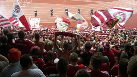FC Bayern Mitglied beim CL-Spiel in Zürich