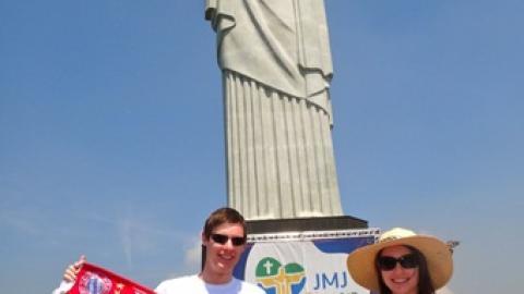 Fanclubmitglieder Julia und Philipp in Rio de Janeiro