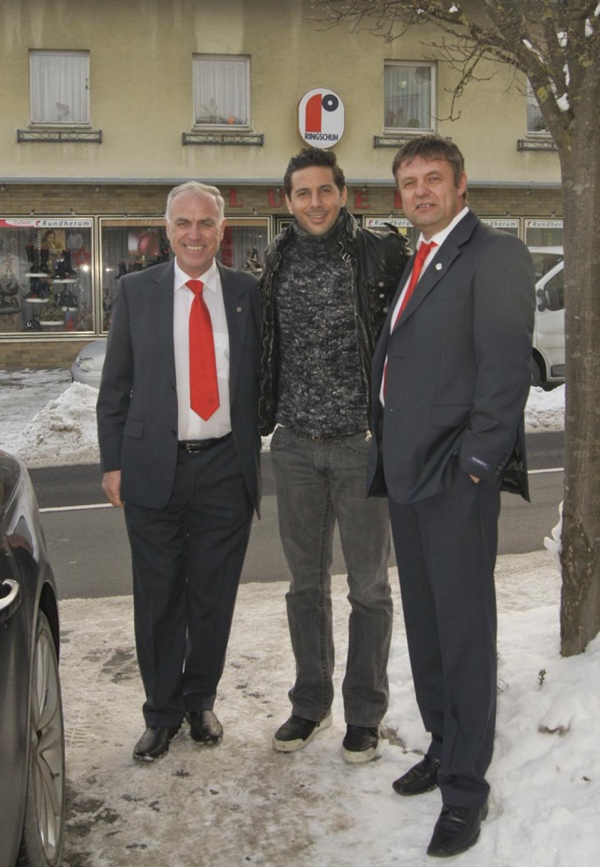 """Weihnachtsfeier 2012 und Besuch von """"Claudio Pizarro"""" und """"Walter Ablinger"""""""