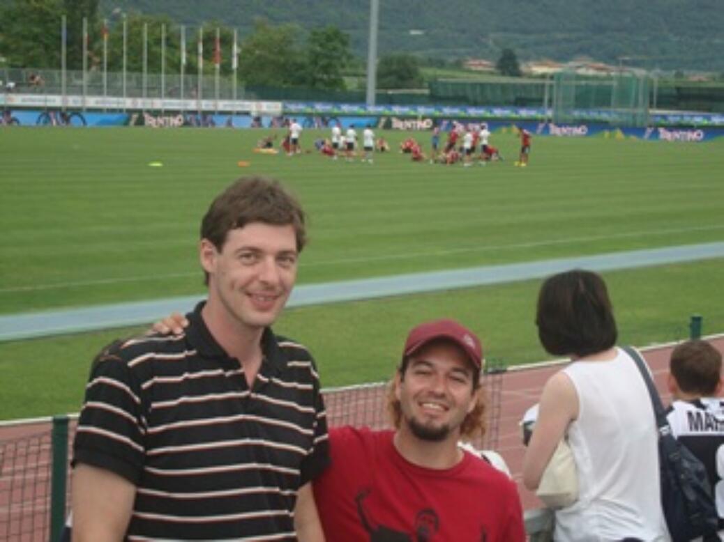 Fanclubmitglieder beim Trainingslager