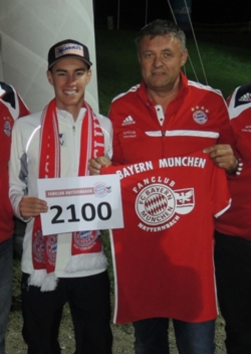 Stefan Kraft unser  2100 Mitglied