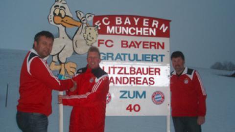 Fanclubmitglied Andi Litzlbauer alias Dr.Weiss feiert 40.Geburtstag