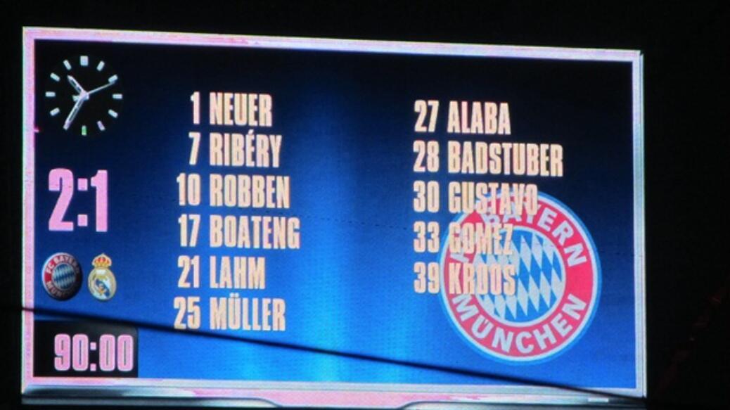 FC Bayern gegen Real Madrid