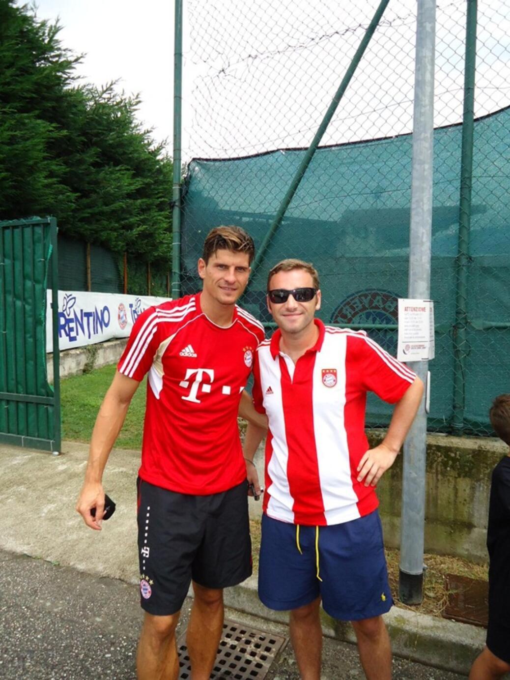 Flo und David im Trainingslager des FCB