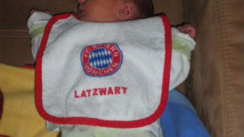 """a new Bayern Fan is born"""