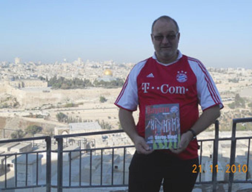 Gerald Stutz bei der Friedenslichtreise in Israel