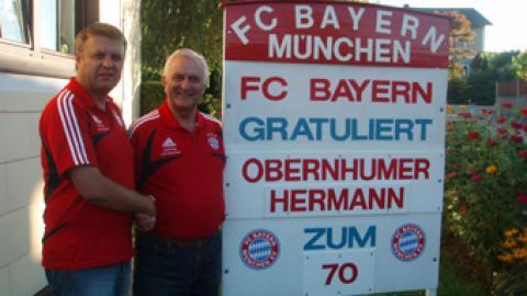 """""""70.Geburtstag"""" unseres Mitglieds Hermann Obernhumer"""