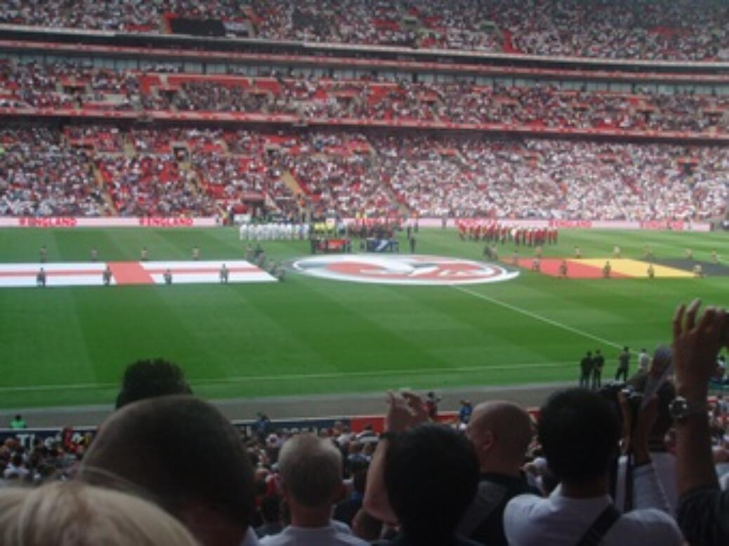 Philipp Obernhumer im Wembley Stadion