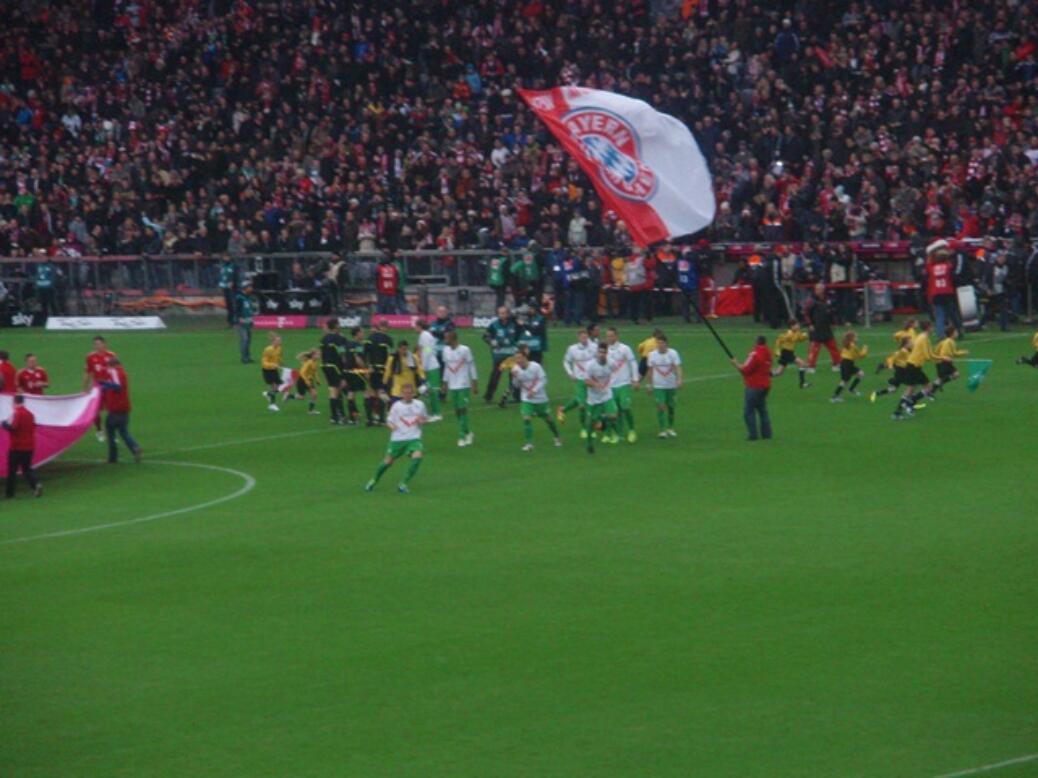 FC Bayern gegen den SV Werder Bremen