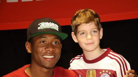 David Alaba bei den Pomperlbuam