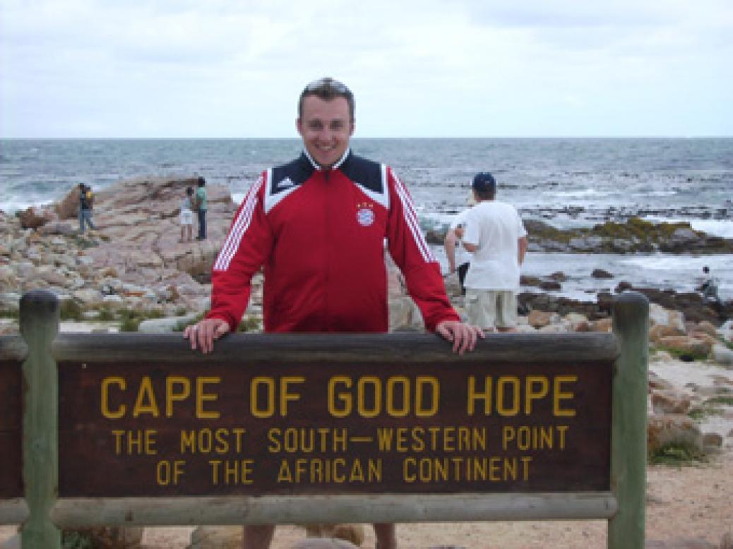 "Fanclubmitglied ""Dominik Hintringer"" in Südafrika"