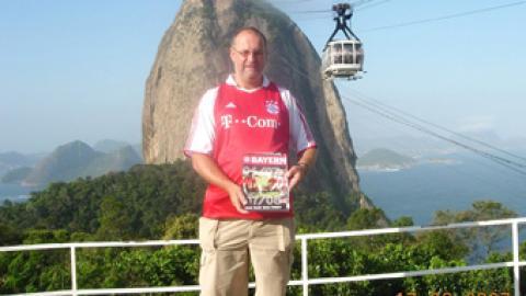 """""""Edelfan"""" Gerald Stutz in Brasilien"""