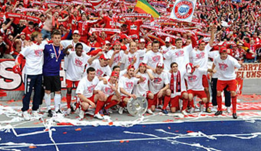 Wir gratulieren dem FC Bayern München, der Mannschaft, dem Vorstand und allen Mitarbeitern zum 22. Meistertitel der Deutschen Fussball-Bundesliga!!!