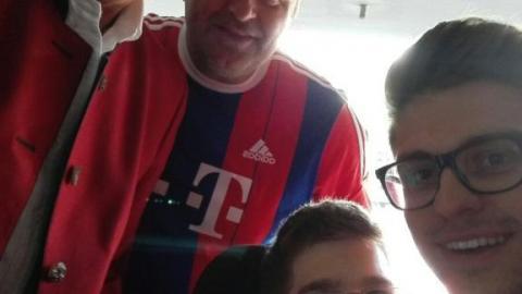 """""""TOBI"""" in der Allianz Arena"""