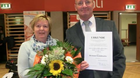 Auszeichnung für Hermann Kaindlstorfer