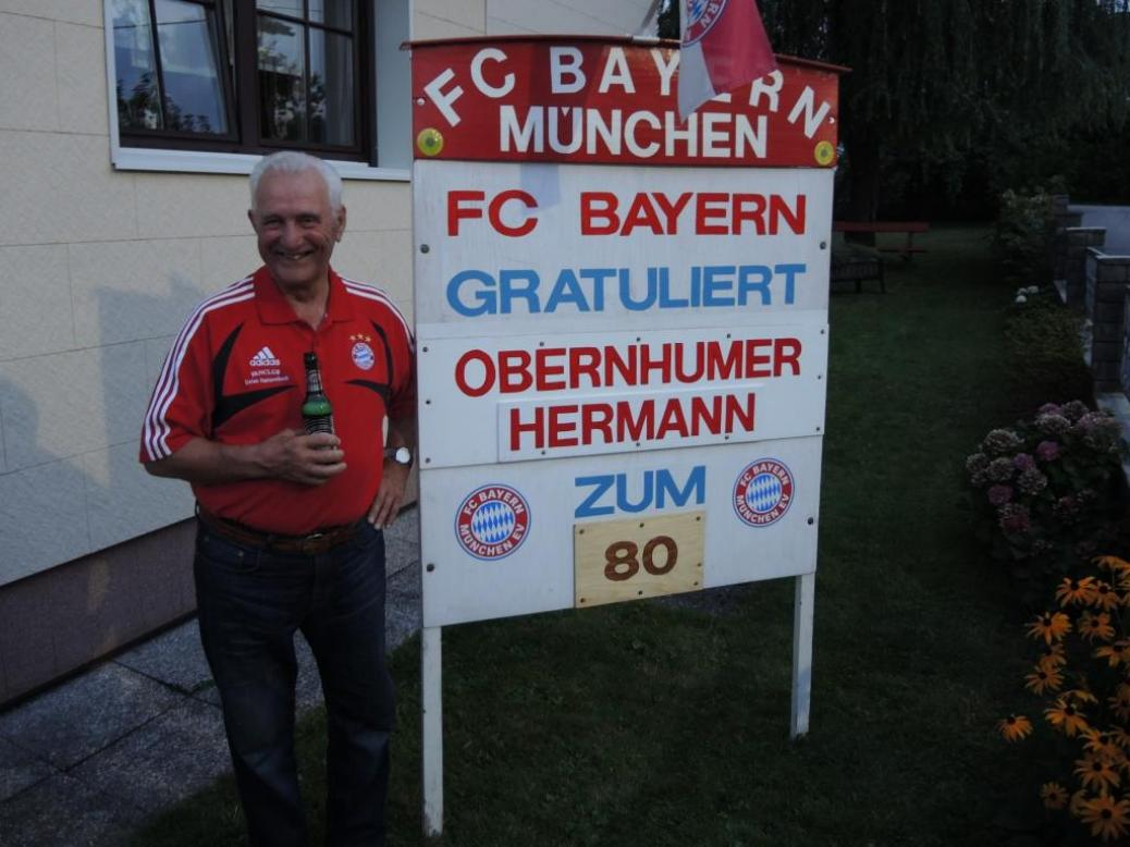 Hermann Obernhumer  wurde 80.