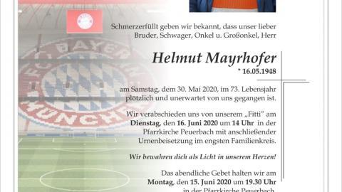 """""""FITTI"""" Helmut Mayrhofer verstorben"""